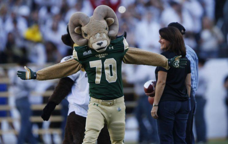Cam the Ram is excited about Colorado State's new stadium. (AP)