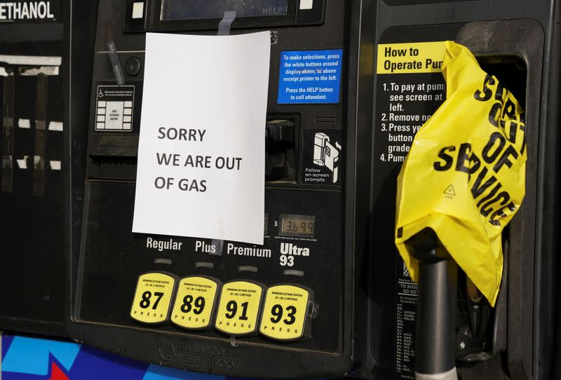 FILE PHOTO: Gas stations run dry after Colonial Pipeline shutdown hits drivers in Virginia