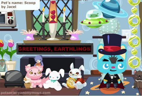 In-game screenshot of Pet Society LED Ticker