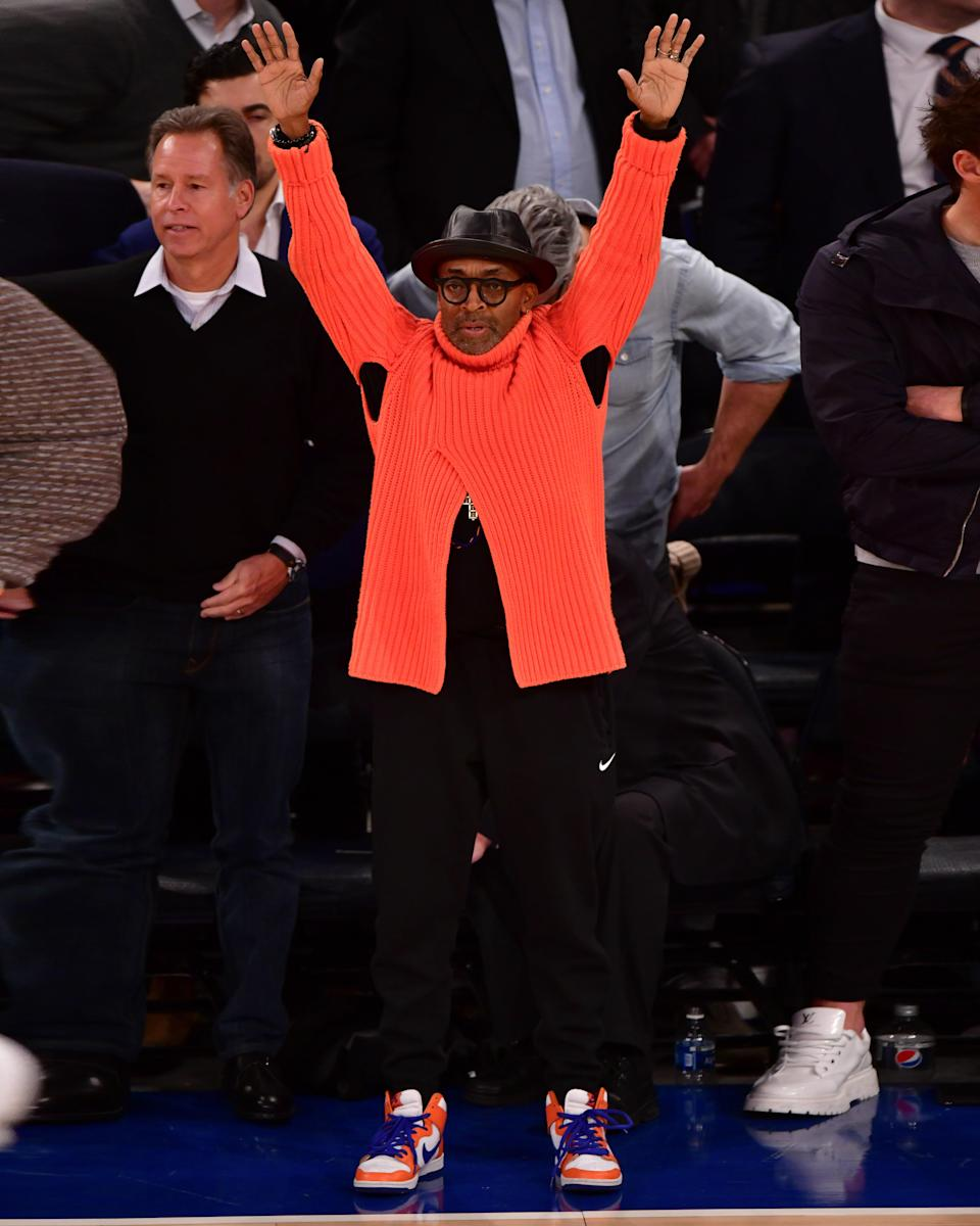 """<h1 class=""""title"""">November 15: Spike Lee</h1> <div class=""""caption""""> The Knicks finally won again, and so did Spike Lee. </div> <cite class=""""credit"""">Getty Images</cite>"""