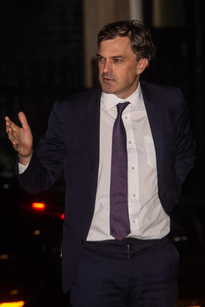 Julian Smith, Chief Whip of the Conservative Party, leaves 10 Downing Street last night (EPA)
