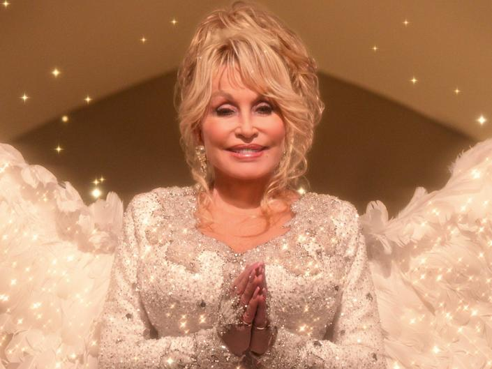 """Dolly Parton in """"Dolly Parton's Christmas on the Square."""""""
