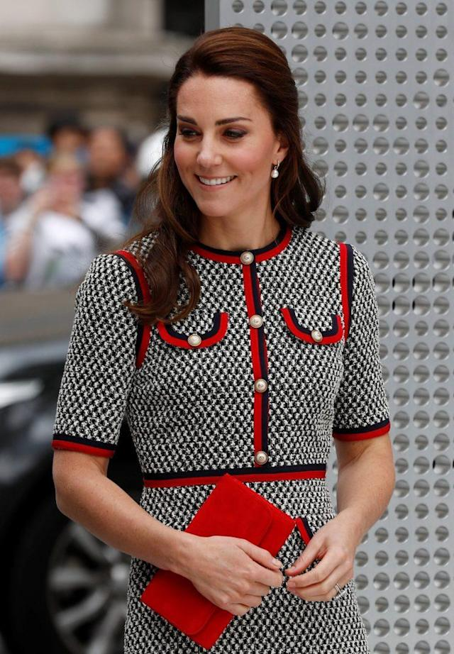 This is the first time the Duchess has worn a Gucci design. (Photo: Reuters)