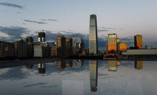 Beijing's Central Business District. President Hu Jintao vowed Saturday that China would keep its powerhouse economy growing steadily, seeking to ease fears that a Chinese slowdown could further cripple the moribund world economy