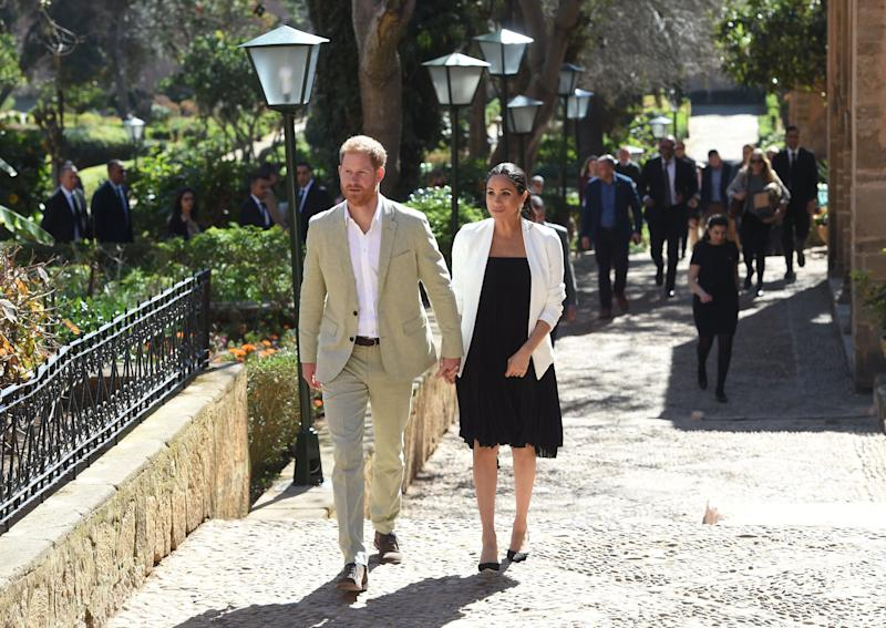 Harry and Meghan in Morocco in February [Photo: PA]