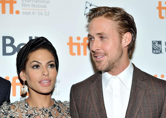 Mendes and Gosling (pictured in 2012) have two daughters. (Photo: Sonia Recchia/Getty Images)