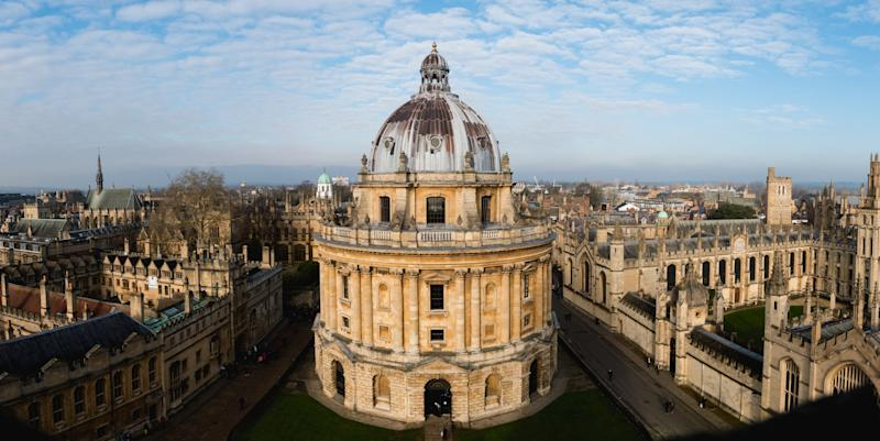 View of the Oxford University campus from above