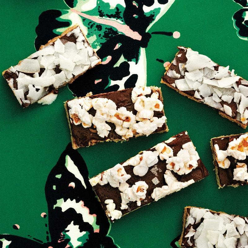 """These easy-to-assemble cookie bars free you to use whatever crunchy things you love. Crush up some candy canes or chop some pistachios and sprinkle 'em on. <a href=""""https://www.epicurious.com/recipes/food/views/crunch-bars-51135030?mbid=synd_yahoo_rss"""" rel=""""nofollow noopener"""" target=""""_blank"""" data-ylk=""""slk:See recipe."""" class=""""link rapid-noclick-resp"""">See recipe.</a>"""