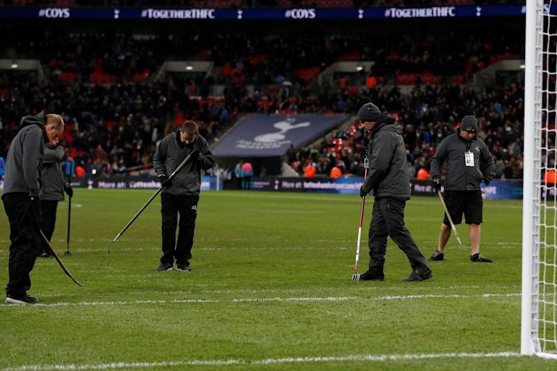 There was controversy over the state of the Wembley pitch when Tottenham hosted Manchester City last month, just 24 hours after the Eagles vs Jaguars NFL game