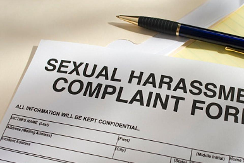 """<span class=""""caption"""">Definition of harassment is now more narrow.</span> <span class=""""attribution""""><a class=""""link rapid-noclick-resp"""" href=""""https://www.gettyimages.com/detail/photo/blank-sexual-harassment-complaint-form-and-pen-royalty-free-image/182872951?adppopup=true"""" rel=""""nofollow noopener"""" target=""""_blank"""" data-ylk=""""slk:KLH49/GettyImages"""">KLH49/GettyImages</a></span>"""
