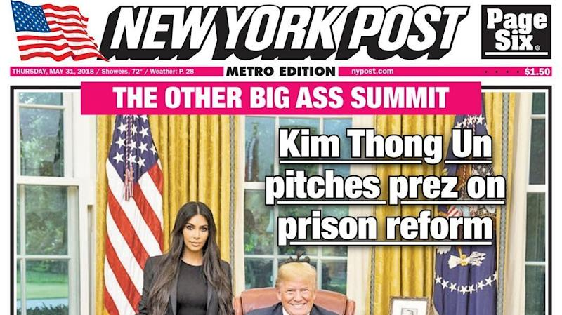 NY Post Ripped Over 'Sexist And Pathetic' Cover On Trump's Kim K Meeting