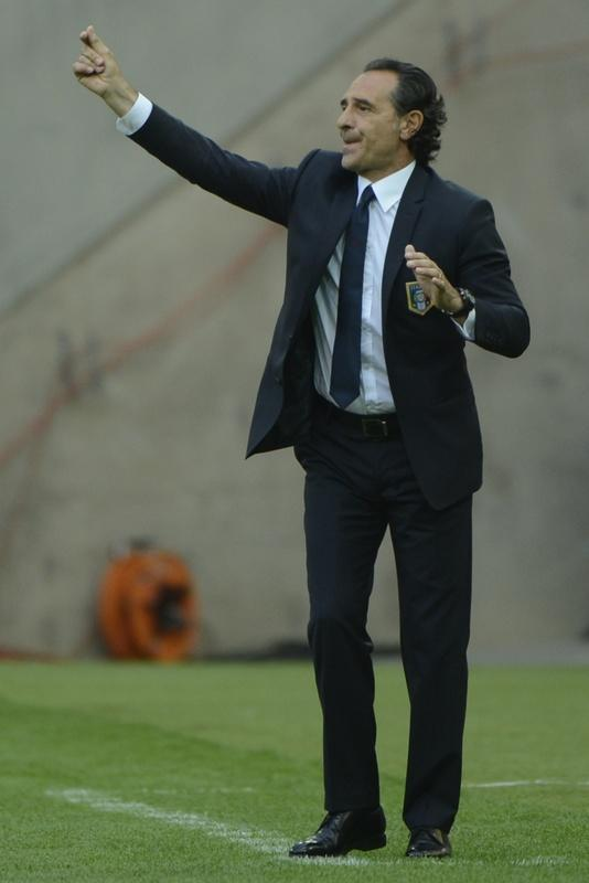 Italian headcoach Cesare Prandelli reacts during the Euro 2012 championships football match Spain vs Italy on June 10, 2012 at the Gdansk Arena. AFP PHOTO / PIERRE-PHILIPPE MARCOUPIERRE-PHILIPPE MARCOU/AFP/GettyImages