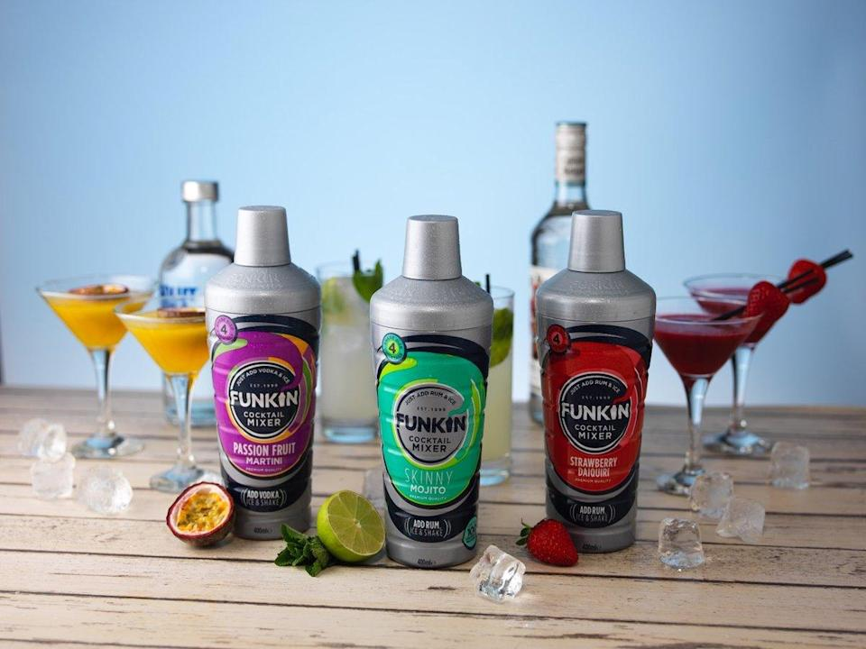 AG Barr has seen its Funkin cocktail range benefit from reopening of hospitality (AG Barr/PA)