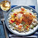 """<p>This saucy slow cooker chicken lives at the flavorful intersection where sweet and savory meet. Never cooked with apricot brandy? It lends a unique fruity richness to this dish and can be found in most liquor stores shelved with flavored other liqueurs.</p> <p><a href=""""https://www.myrecipes.com/recipe/honey-apricot-glazed-chicken"""" rel=""""nofollow noopener"""" target=""""_blank"""" data-ylk=""""slk:Honey-Apricot-Glazed Chicken Recipe"""" class=""""link rapid-noclick-resp"""">Honey-Apricot-Glazed Chicken Recipe</a></p>"""