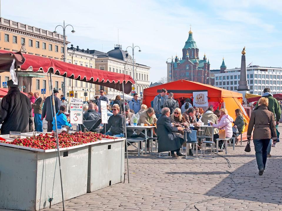 Helsinki Finland Market Square People