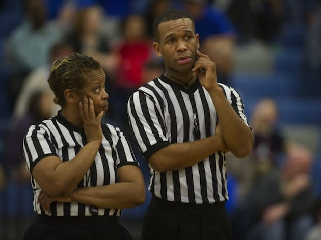 California basketball referees -- and mother and son -- Marcia and LaMark Barclay — Sacramento Bee