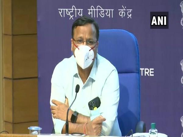 Lav Agarwal, Joint Secretary, Health Ministry briefing the media, in New Delhi on Tuesday. [Photo/ANI]