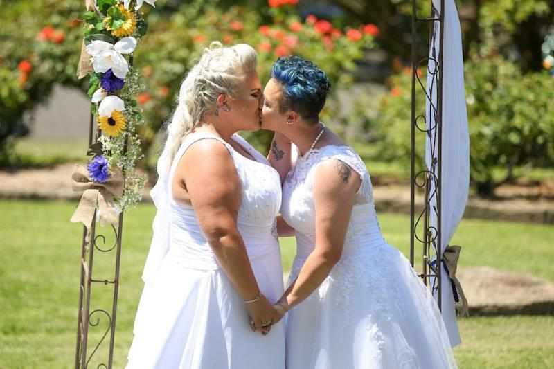 Lauren Price and Amy Laker have made history as Australia's first wife and wife. Photo: Getty