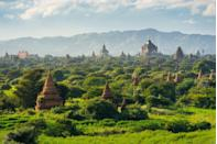 <p>Bagan, the ancient capital of the Pagan Kingdom provides some extraordinary running routes—assuming you're okay with a little humidity. Over 2,000 of the ancient city's temples and pagodas are still standing, and you can weave through the south Asian plains, stopping to view the architecture along the way.</p>