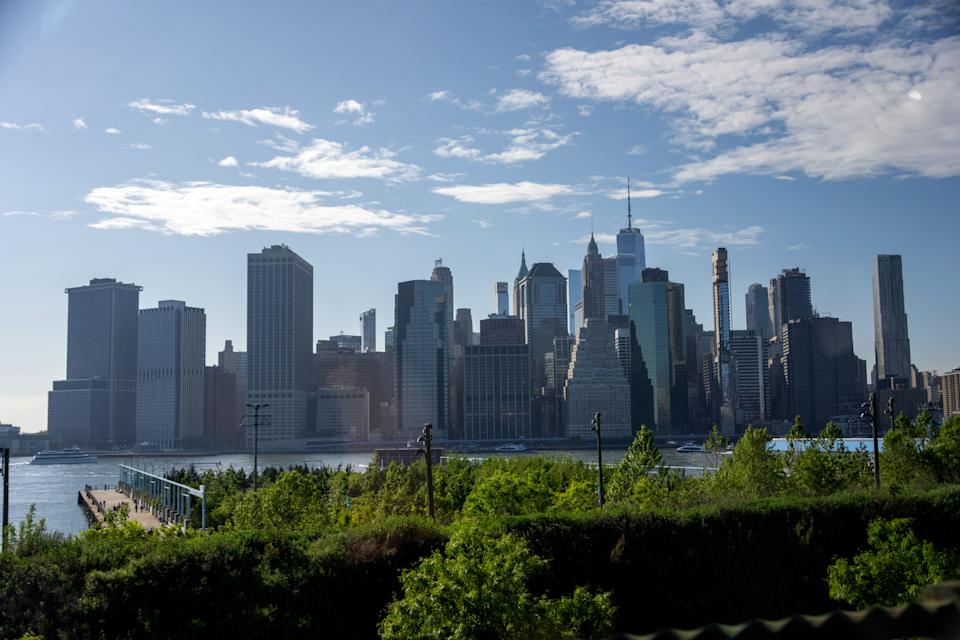 The view of Manhattan's financial district as seen from Brooklyn in New York City. Photo: Alexi Rosenfeld/Getty