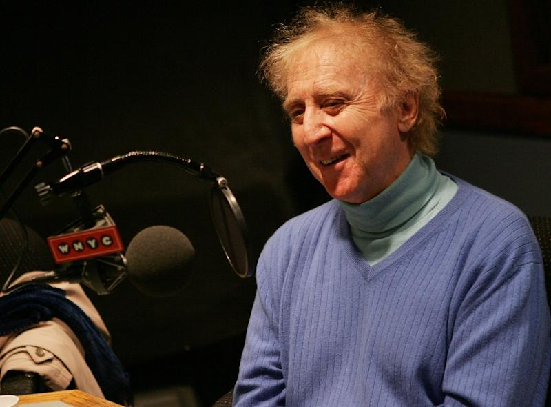 Actor Gene Wilder, pictured on March 16, 2007, died today at his home in Stamford, Connecticut, leaving behind a body of work that began 50 years ago (AFP Photo/Evan Agostini)