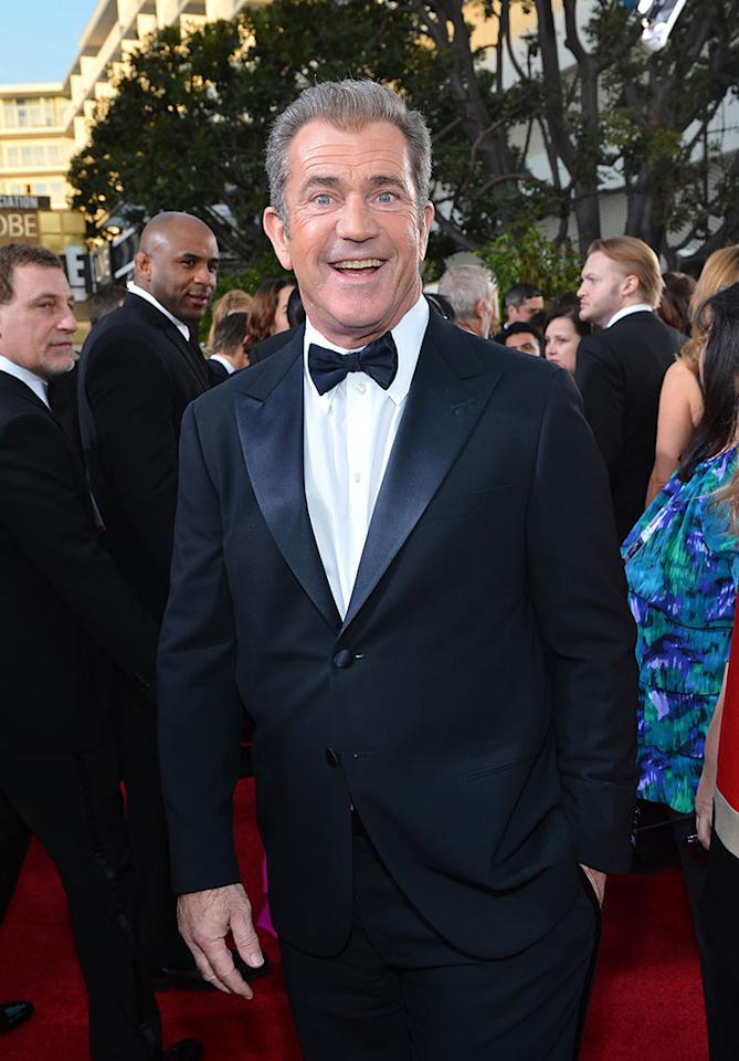 Mel Gibson arrives at the 70th Annual Golden Globe Awards at the Beverly Hilton in Beverly Hills, CA on January 13, 2013.