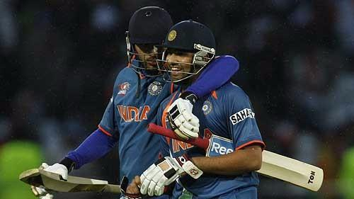 Yuvraj and Rohit Share Some Friendly Banter on Twitter