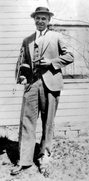 PHOTO: This is a 1934 file photo of desperado John Dillinger near Moore, Ind. The body of the 1930s gangster is set to be exhumed from an Indianapolis cemetery more than 85 years after he was killed by FBI agents. (AP, FILE)