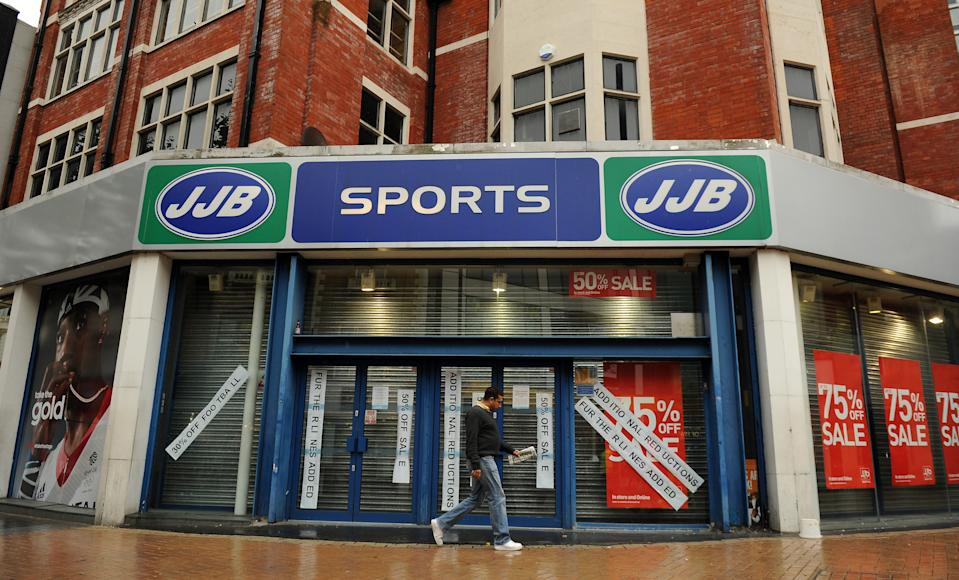 JJB Sports was the first to pioneer the use of the CVA on the high street. Photo: PA