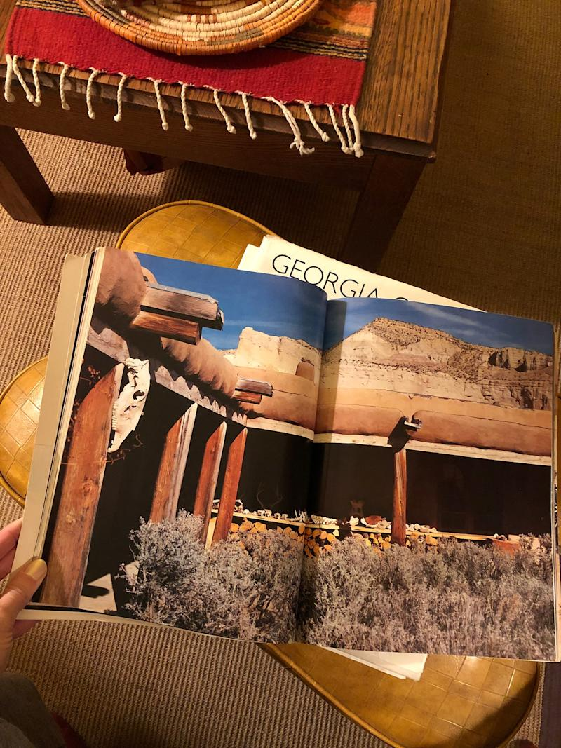 Received Georgia O'Keeffe's homes book for Christmas to get inspired for my future off-the-grid house.