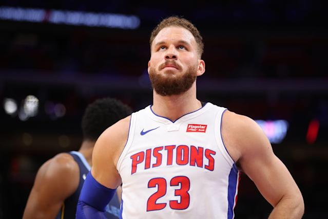 "<a class=""link rapid-noclick-resp"" href=""/nba/players/4561/"" data-ylk=""slk:Blake Griffin"">Blake Griffin</a> has battled a left knee injury for the past several weeks. (Getty Images)"