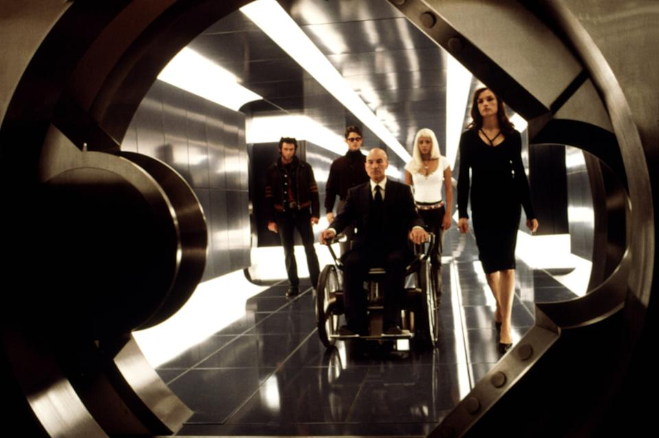 The cast of 'X-Men' prepares to enter Cerebro (Photo:  20th Century Fox Film Corp. All rights reserved. Courtesy: Everett Collection)