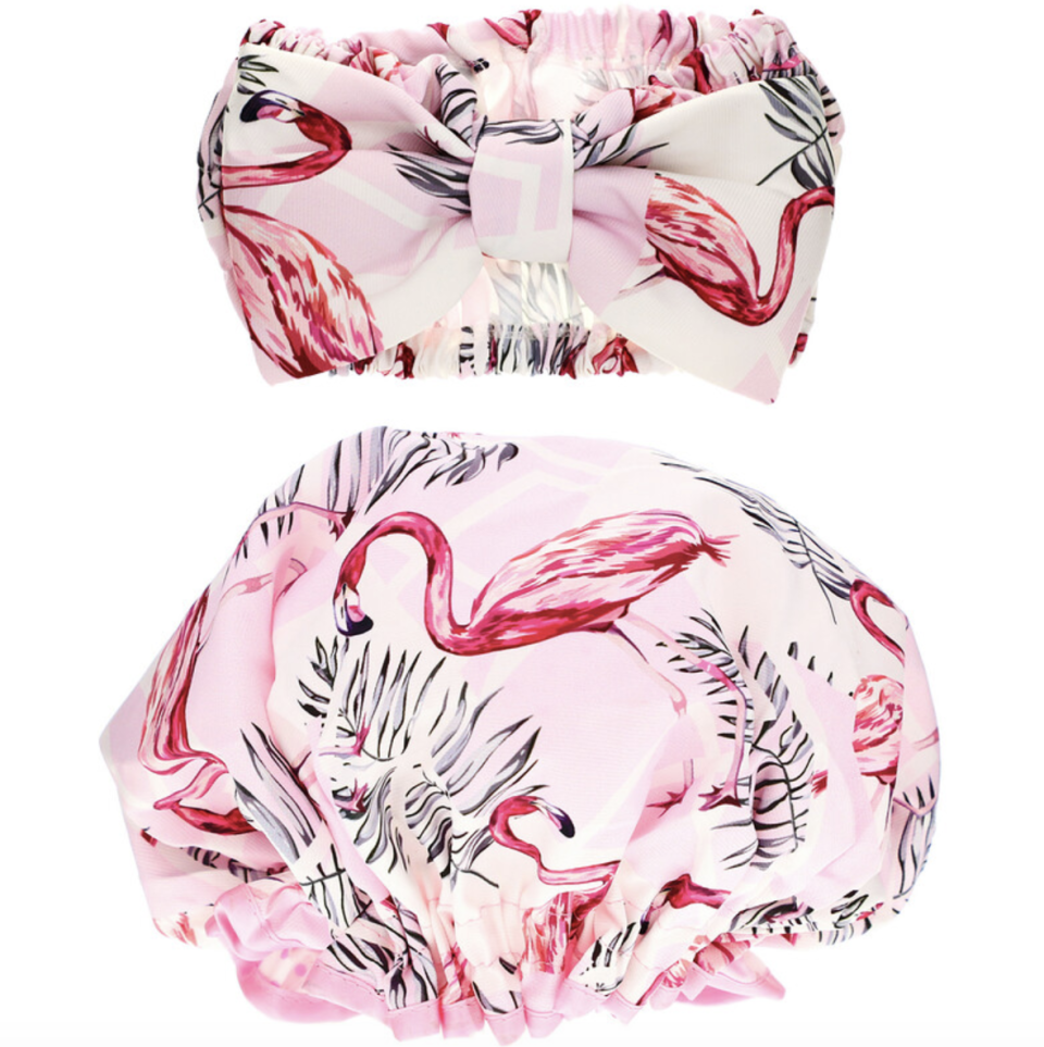 The Vintage Cosmetic Co., Make-Up Headband and Shower Cap Set. PHOTO: iHerb