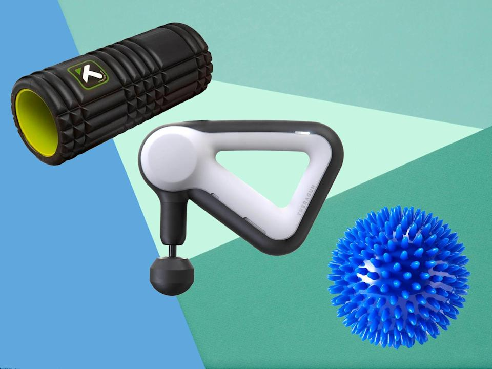 From foam rollers to massage guns, we tested the best equipment for tight shoulders, pulled muscles and tension headaches (The Independent/iStock)
