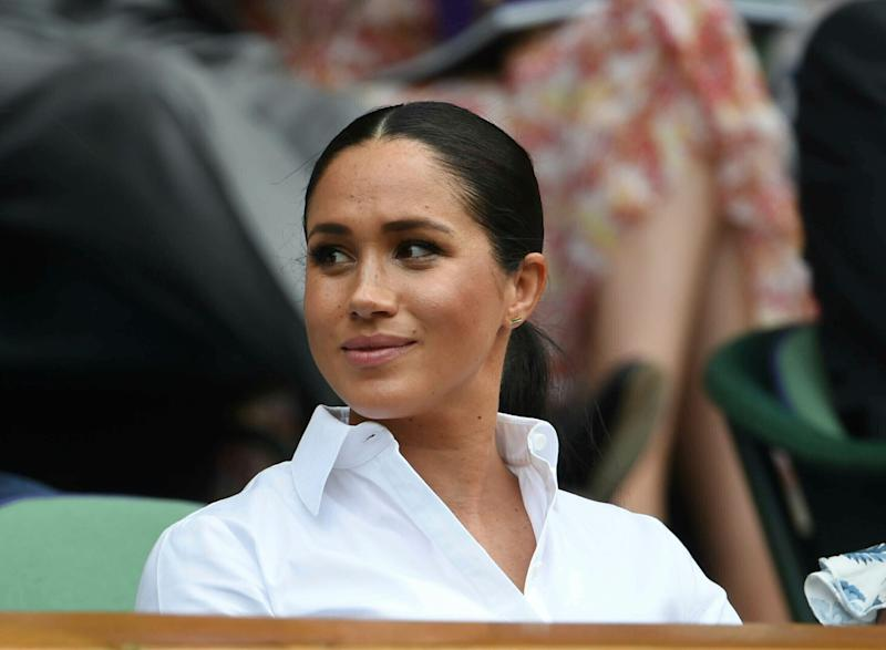 Meghan, Duchess of Sussex at the Wimbledon Tennis Championships. (Photo: KGC-09/STAR MAX/IPx)