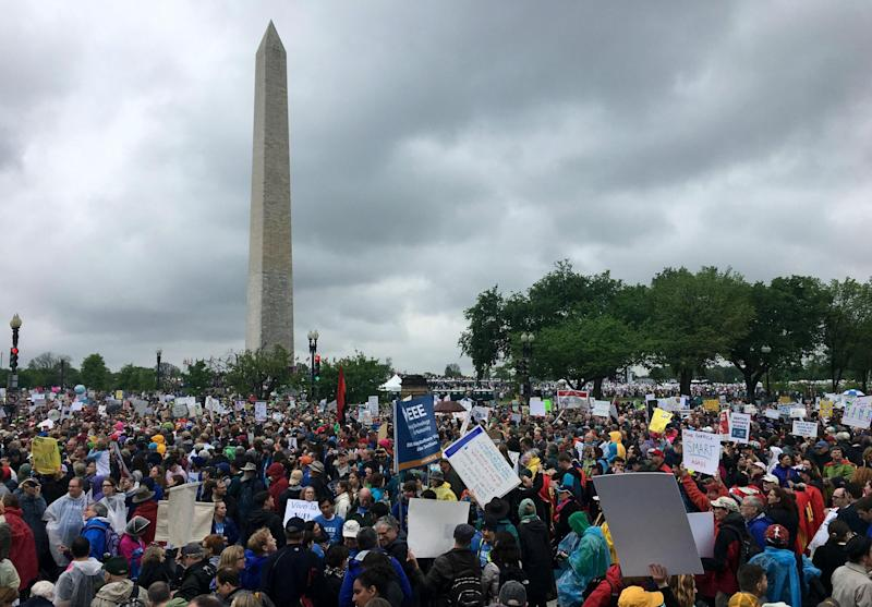 The largest protest was in the Washington DC: Reuters