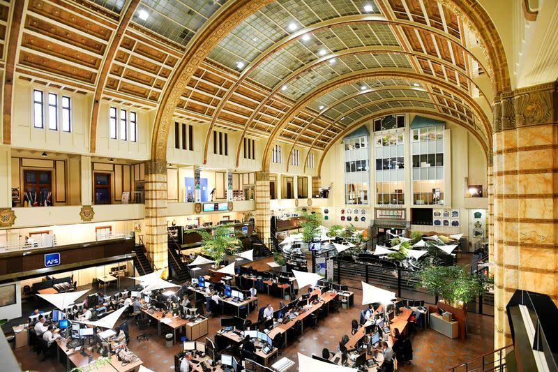 FILE PHOTO: Overview of Amsterdam's stock exchange interior as Prosus begins trading on the Euronext stock exchange in Amsterdam