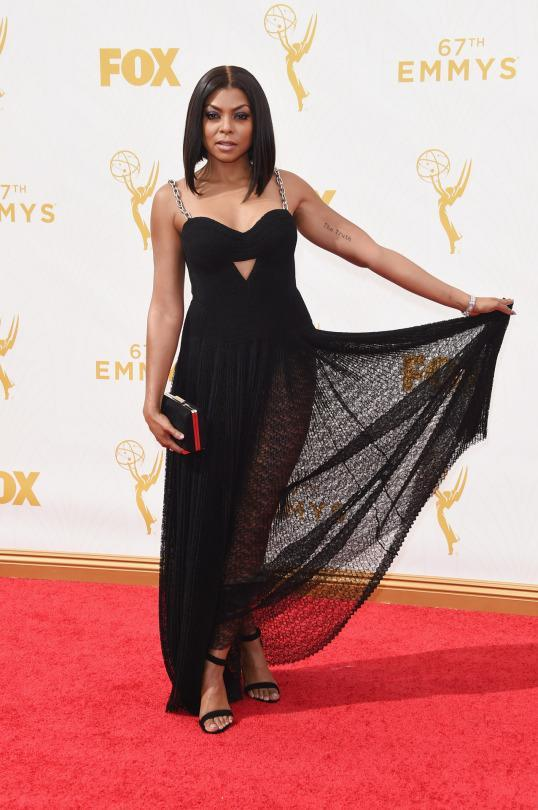 <p>Taraji P. Henson wore Alexander Wang for the first time at the Met Gala and hasn't stopped since. The designer, who recently celebrated 10 years of his eponymous label, custom made Cookie's red carpet dress. With her hair in a bob, she was sweet and tough as nails all in one, with a lace bodice and chainlink straps.</p>