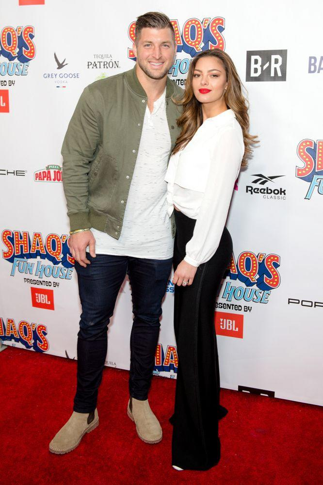 From left: Tim Tebow and fiancée Demi-Leigh Nel-Peters | Marcus Ingram/Getty Images