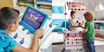 """<p><a href=""""https://www.goodhousekeeping.com/life/money/a33608080/best-amazon-prime-day-deals-2020/"""" rel=""""nofollow noopener"""" target=""""_blank"""" data-ylk=""""slk:Amazon Prime Day"""" class=""""link rapid-noclick-resp"""">Amazon Prime Day</a> is almost over, and chances are, you've already scored steep discounts on <a href=""""https://www.goodhousekeeping.com/life/money/a34025607/amazon-prime-day-appliance-sales-2020/"""" rel=""""nofollow noopener"""" target=""""_blank"""" data-ylk=""""slk:appliances"""" class=""""link rapid-noclick-resp"""">appliances</a>, <a href=""""https://www.goodhousekeeping.com/life/money/a34196980/amazon-prime-day-clothing-sales-2020/"""" rel=""""nofollow noopener"""" target=""""_blank"""" data-ylk=""""slk:clothes"""" class=""""link rapid-noclick-resp"""">clothes</a> and <a href=""""https://www.goodhousekeeping.com/life/money/a34116705/amazon-prime-day-furniture-sales-2020/"""" rel=""""nofollow noopener"""" target=""""_blank"""" data-ylk=""""slk:home decor"""" class=""""link rapid-noclick-resp"""">home decor</a>. But if you're the kind of person who likes to get ahead of your holiday shopping — or you're looking for some new things to keep your kids occupied while you're on a work call — then you'll want to take advantage of the fact that Amazon has is majorly slashing the prices of <a href=""""https://www.goodhousekeeping.com/childrens-products/toy-reviews/g4695/best-kids-toys/"""" rel=""""nofollow noopener"""" target=""""_blank"""" data-ylk=""""slk:kids' toys"""" class=""""link rapid-noclick-resp"""">kids' toys</a> right now. There's something here for every child, at a steep discount!</p><p>With so many <a href=""""https://www.goodhousekeeping.com/holidays/gift-ideas/g33609399/amazon-holiday-toys-2020/"""" rel=""""nofollow noopener"""" target=""""_blank"""" data-ylk=""""slk:toy deals to shop on Amazon"""" class=""""link rapid-noclick-resp"""">toy deals to shop on Amazon</a>, we saved you the trouble of sifting through them all by sharing our favorite deals below. Hurry! Today is the last day of <a href=""""https://www.amazon.com/l/13887280011?tag=syn-yahoo-20&ascsubtag=%5Bartid%7C10055.g.34371748%5Bsrc%7C"""