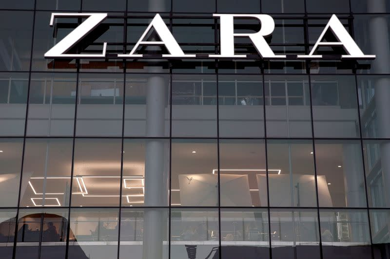 FILE PHOTO: FILE PHOTO: The logo of the Zara store is seen in a mall at Vina del Mar