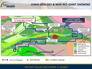 Lewis geology and Red Giant showing
