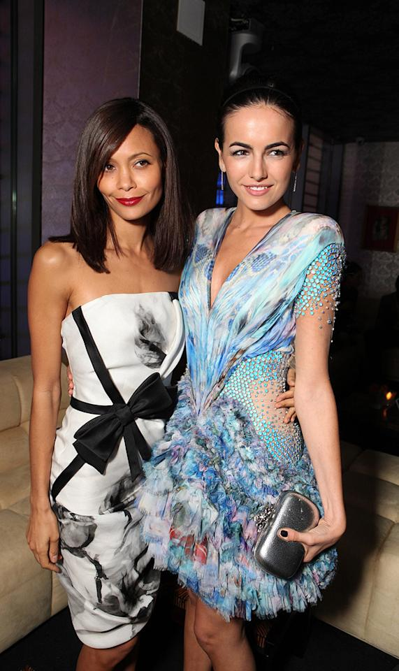 """<a href=""""http://movies.yahoo.com/movie/contributor/1800018708"""">Thandie Newton</a> and <a href=""""http://movies.yahoo.com/movie/contributor/1800024058"""">Camilla Belle</a> at the Los Angeles premiere of <a href=""""http://movies.yahoo.com/movie/1810045661/info"""">2012</a> - 11/03/2009"""