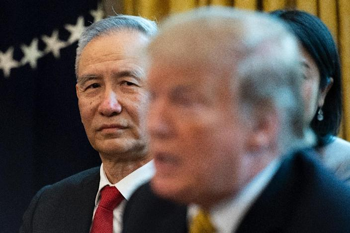 The world will be keeping a close watch on Chinese Vice Premier Liu He's talks in Washington, which come days after Donald Trump said he would more than double tariffs on Chinese imports (AFP Photo/Jim WATSON)