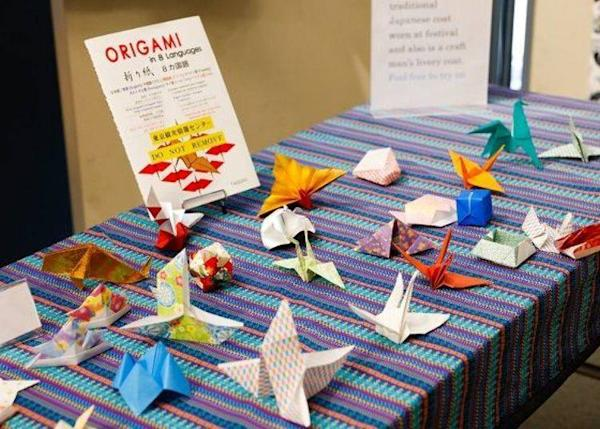 "▲The ""cultural Experience Zone"" offers hands on courses on traditional Japanese crafts, such as origami. These events are held from time to time and attract many tourists"