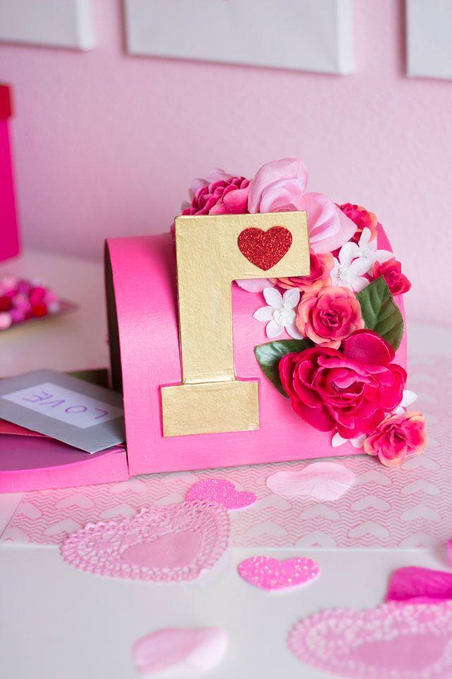 """<p>Your little one can help customize this mailbox by choosing their favorite faux flowers. And you can help them paint the valentine box in a complementary color.</p><p><em><a href=""""https://designimprovised.com/2017/02/diy-floral-valentine-mailbox.html"""" rel=""""nofollow noopener"""" target=""""_blank"""" data-ylk=""""slk:Get the tutorial at Design Improvised »"""" class=""""link rapid-noclick-resp"""">Get the tutorial at Design Improvised »</a></em></p>"""
