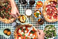 """<p>The Neapolitan Margherita is protected by UNESCO and it's not hard to see why. But if Naples is too far for you, settle for Pizza Pilgrims instead.</p><p>Bready, chewy and with a hint of char, their pizza bases are seriously moreish. As are the toppings including buffalo D.O.P, nduja and smoked anchovy.</p><p>We also recommend their guest pizza which is often themed. They recently did a La Mimosa to celebrate <a href=""""https://www.elle.com/uk/life-and-culture/a26713899/how-to-celebrate-international-womens-day-at-work/"""" rel=""""nofollow noopener"""" target=""""_blank"""" data-ylk=""""slk:International Women's Day"""" class=""""link rapid-noclick-resp"""">International Women's Day</a>.<br></p><p>Address: 40-42 Parkway, Camden Town, NW1 7AH</p><p><strong>Click <a href=""""https://www.pizzapilgrims.co.uk"""" rel=""""nofollow noopener"""" target=""""_blank"""" data-ylk=""""slk:here"""" class=""""link rapid-noclick-resp"""">here</a> for more information.</strong></p>"""