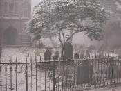 <p>Ash covers gravestones in Trinity Church on Sept. 11, 2001, after the attacks on the nearby World Trade Center towers in New York. These pictures were shot by John Labriola, who had an office on the 71st floor of one of the buildings. He escaped with no injuries. (Photo: John Labriola/AP) </p>