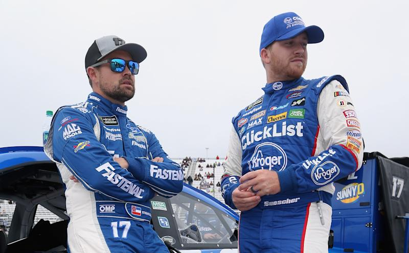 Ricky Stenhouse Jr. (L) is being replaced by Chris Buescher (R) at Roush Fenway Racing in 2020. (Getty Images)