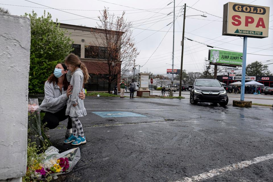 <p>Prosecutors say the accused Atlanta gunman targeted some of his victims, including those at Gold Spa, because they were of Asian descent</p> (Associated Press)